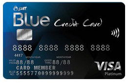 บัตรเครดิต K Bank PTT Blue Card VISA Platinum